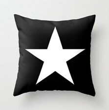 Black and White star cushion cover, soft fine fabric, modern, christmas