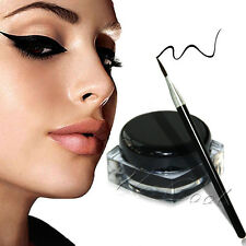 NEW Eyeliner Black Waterproof Liquid Eye Liner Make Up Brush Shadow Cosmetic PS