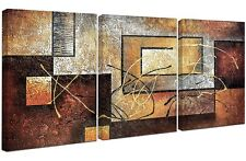 Abstract Wall Art Picture Canvas 3 Pcs Print Framed Home Hang Decoration Gift