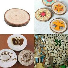 Unfinished Natural Round Wood Slices Circles Discs Crafts Creative For X1N4 W7F4
