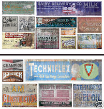 HO Scale Ghost Sign 2-Pack #17 - Great for Weathering Buildings & Structures!
