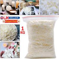 1Kg Soy wax / Soya Wax Flakes 100% Pure, Clean Burning, No Soot, Natural Soy Wax