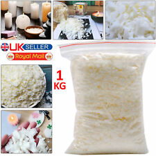100% Natural 1KG Pure Soya Wax / Soy Candle Making Wax Flakes Clean Burning 1 KG