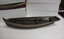 "Rustic red white blue 19.5""  Wood ROW BOAT Skif Dory CANOE model rowboat skiff"
