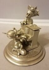 Disney Linden Mickey Minnie Mouse Piano Quartz Clock Watch Pewter LE 1462 / 5000
