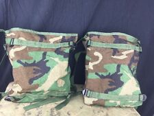 LOT OF 2 - ARMY SURPLUS RADIO POUCH / BAG MOLLE II WOODLAND CAMO NWOT