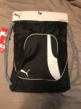 Brand New Puma Carrysac (cinch Sac) With Front Zipper And Water Bottle Pockets
