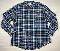 Brooks Brothers Men's Dress Shirt Size XXL Blue Gray Plaid Regent Fit Button Up