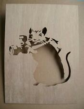 Banksy Rat Photographer Wooden Stencil rats camera