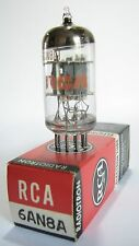One 1969 RCA 6AN8A tube - Grey/Grey Plates, Silver Shield, Disc Getter (Code:CP)