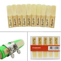 Lade 10pcs Reed Strength 2.5 2-1/2 Reed Bamboo for Traditional bB Clarinet E9B7