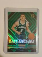 Donte DiVincenzo 2018-19 Panini Prizm Emergent Green #17 Rookie RC ( Bucks )