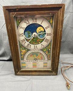 Vintage 70s Era Planters Clock By Mechtronics Works