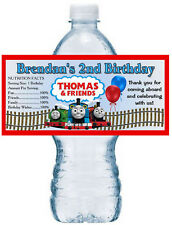 20 THOMAS AND FRIENDS TRAIN BIRTHDAY PARTY FAVORS WATER BOTTLE LABELS