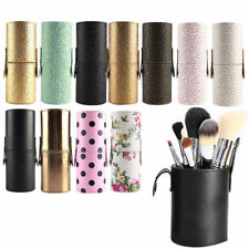 Good Travel Leather Makeup Brush Pen Storage Empty Holder Cosmetic Cup Case Box