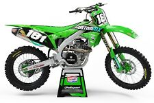 KAWASAKI KX KXF 85 125 250 450 500 Motocross Gráficos Kit Todos Los Años Y Modelos