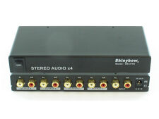 1x4 (1:4) 4-Way Stereo Analog R/L Audio Splitter Distribution Amplifier SB-3705