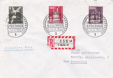 West Berlin 1975 Industry and Technology FDC Registered Mail VGC