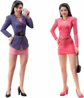 Hasegawa FC01 80's Bubbly Girls Figure set of 2 1/24 scale kit NEW F/S