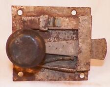 Antique Iron Plate Interior Door Lock 18th Century PA Dutch Blacksmith #3