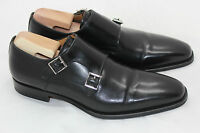 Magnanni Miro Double Monk Strap Shoe Loafer Buckle Slip-On Mid Black 8.5 M (D7)