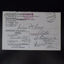 LETTRE PRISONNIER DE GUERRE STALAG IX A -> SALERS KRIEGSGEFANGENENPOST POW
