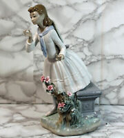 "Lladro Figurine #1313 ""Exquisite Scent"" as is"