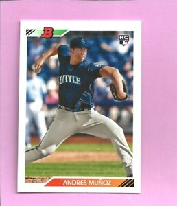 2020 Bowman Heritage Andres Munoz RC #90 Seattle Mariners