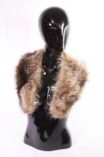 WAN-19 Pelzkragen Fellkragen echt Pelz braun für Mantel Jacke Waschbär Vintage