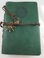 Valery No.2 Leather Bound Journal Nautical Theme With Charms on Leather Tassles