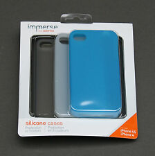 Griffin Immerse iPhone 4 & 4S Protective Case # GB03562 - 3-Pack Blue White Gray