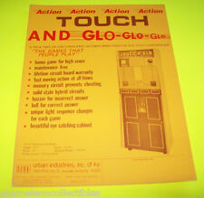 TOUCH AND GLO By URBAN 1960s-70s ORIGINAL NOS ARCADE GAME FLYER BROCHURE