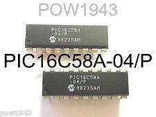 ( 5 PC. ) MICROCHIP P/N PIC16C58A-04/P CMOS MICROCONTROLLERS 18 PIN DIP