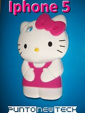 Cover CUSTODIA per IPHONE 5 5S SE Silicone HELLO KITTY 3D/Silicon Case 3D