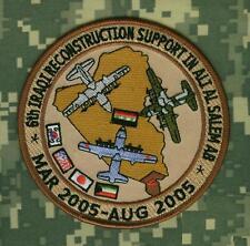 TALIZOMBIE© WHACKER WAR TROPHY IRON-ON PATCH: Ali Al Salem Air Base Kuwait  2005