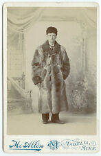 GAY INTEREST FASHION GARMENT IND: Man with a Fur Coat Cabinet Card