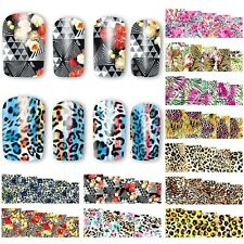 12PCS beauty leopard water transfer nail stickers decals manicure decorations