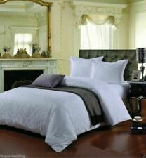 500 Thread Count Super King Bed Size Damask White 100 Cotton Jacquard Duvet of