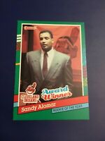 1991 Donruss # 693 SANDY ALOMAR JR Award Winner Cleveland Indians Baseball Card