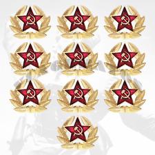 KOKARDA RUSSIA RED ARMY / SOVIET ARMY / Star, Hat, Pin, Badge (10pc)