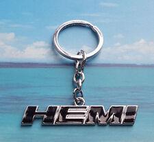 Metal Black HEMI Emblem KeyChain Key GM Dodge Ram Challenger SRT8 Jeep Chrysler