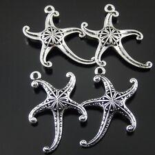 5 Stück Antike Silber Legierung Seestern Charme Anhänger Handwerk Schmuck 32743