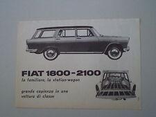 advertising Pubblicità 1959 FIAT 1800/2100