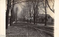 New York NY Real Photo RPPC Postcard c1910 NORTH SYRACUSE Church Street Homes