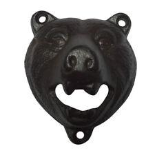 Retro Cast Iron Wall Mount Bottle Opener Grizzly Bear Teeth Opener Pub Bar Tool