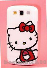 FOR SAMSUNG GALAXY S3 cute hello kitty CASE WHITE W/ RED BOW DRESS S III /