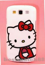 FOR SAMSUNG GALAXY S3 cute hello kitty CASE WHITE W/ RED BOW  DRESS S
