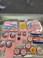 Vintage Lot Presidential Campaign Political Buttons Pins; ,Nixon, LBJ