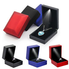 Luxury Jewelry Necklace Earring Ring Box Gift with LED Light Engagement Wedding