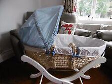 MOSES BASKET - BLUE - BABY START - MY TOY BOX MOSES BASKET -BOYS - MATTRESS